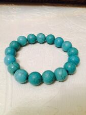 Health And Wealth Feng Shui New Real 12mm Turquoise Bracelet Jewellery