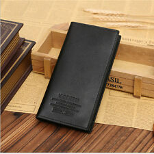 Men's Leather ID credit Card Holder Clutch Bifold Money Purse Long Wallet Pocket