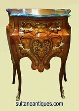 Here in 3 weeks Louis XV style marquetry side commode