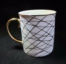 White Gold Ceramic Mug Christmas Holiday Xmas Winter Arlington Designs 14 oz