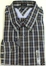 NEW TOMMY HILFIGER SLIM FIT LONG SLEEVE PORTOFINO BLUE  PLAID BUTTON UP SHIRT L