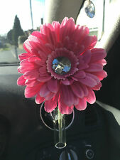 13CM HOT PINK GERBERA & GEM DAISY VW FLOWER AND  AUTO CAR VENT VASE, UNIVERSAL