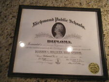 1961 Maggie L. Walker High School Richmond VA African American High Diploma