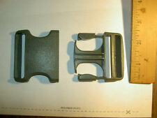 "1 NEW 2"" inch Gray Plastic Buckles Webbing Strapping backpacks US military"
