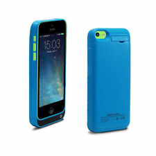 Blue Backup Charger Battery Case for iPhone 5 5s 5c 1 Year Warranty Thin Light