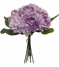 LAVENDER ~ CABBAGE ROSE  HYDRANGEA Bouquet Silk Wedding Flowers Centerpieces
