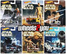 Set of 6 - STAR WARS - 2016 Hot Wheels Pop Culture RALPH McQUARRIE Real Riders