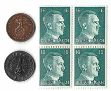 Rare Very Old Antique Vintage WWII Nazi Germany Coin Hitler Stamp Collection Lot