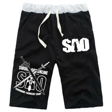 Anime Sword Art Online SAO Cotton Casual Pants Baggy Shorts Short Pants Trousers