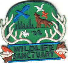 """WILDLIFE SANCTUARY"" - ANIMALS - BIRDS - ZOO - FOREST- Iron On Embroidered Patch"