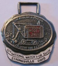* Marion 28 Shovel Dragline Crane Pocket Watch Fob 1974 IWFAI 10th National Show