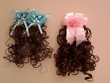 GIRLS/WOMENS HAIR EXTENTION ON CLIP ASS. PACK OF 10 -  IDEAL FOR PARTY BAGS/XMAS