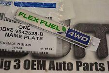 2013-2015 Ford Explorer 4WD Flex Fuel Liftgate Nameplate new OEM DB5Z-9942528-B
