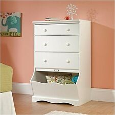 Sauder Pogo 3-Drawer Chest Soft White Finish Dressers Or Chests Of Drawer