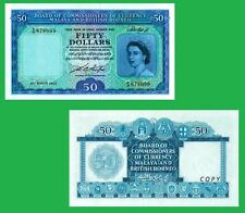Malaya and British Borneo 50 Dollars 21.3.1953. UNC - Reproduction