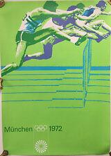 Original Werbeplakat OLYMPIA 1972 MÜNCHEN - HÜRDENLAUF, Nr 07.70.10