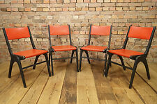 4x VINTAGE STAPELSTUHL SÜHLE PINGUIN STUHL Stacking Chairs Casala mid Century
