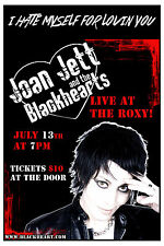 Joan Jett & The Blackhearts at The Roxy Theatre Los Angeles Concert Poster