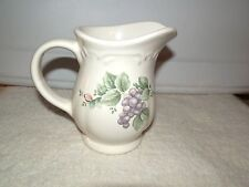 Pfaltzgraff GRAPEVINE CREAMER or CREAM PITCHER Purple Grapes USA Stoneware