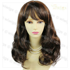 Wavy Long Brown red & Black Brown Ladies Wigs skin top Hair from WIWIGS UK