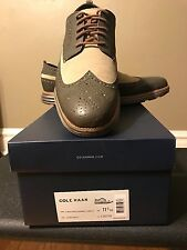 cole haan men shoes grey beige with grey and orange laces
