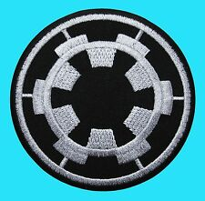 STAR WARS - Galactic Empire Military Imperial Cog Embroidered - Iron On Patch Bc