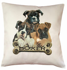 Boxer Puppy Breed of Dog Cotton Cushion Cover - Perfect Gift