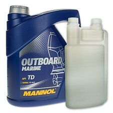 4 (1x4) LITRES MANNOL Outboard Marine 2-tact mischöl hors-bord + dosierflasche