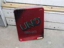 UNO GAME WITH TIN CONTAINER NEVER OPENED DATED 2002 (UNO DELUXE) LOTS OF FUN