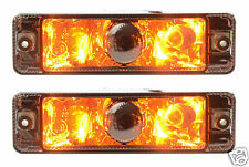 "NEW, PAIR of ""Smoked"" ARB Bullbar Indicators with Park lights, lamps 135x38mm"