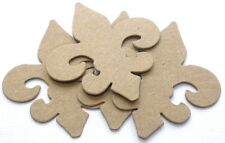 "{4} *MINI FLEUR DE LIS* Flourish Accent Chipboard Die Cuts - 2 1/4"" x 2 1/2"