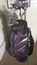 FULL SET Of Golf Clubs Irons 3-SW-1/3/5 Woods-Putter-Bag-Balls-Tees-Rh R Flex