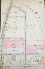 ORIGINAL 1912 GW BROMLEY, CAR DEPOT, COAL YARD, INWOOD, MANHATTAN, NY ATLAS MAP
