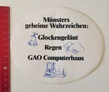 Aufkleber/Sticker: Münsters Wahrzeichen - Glockengeläut Regen GAO (07061681)