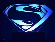 Optinox Superman Logo 3D illusion LED gift table night lamp