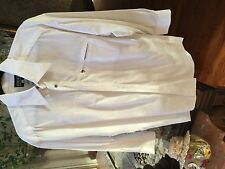 Vintage Versace Jeans white shirt with metal buttons Sz L