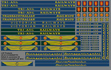 TRIANG RAILWAYS R159 R257 TRANSCONTINENTAL LOCO VICTORIAN RAILWAYS TRANSFER SET