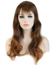 Long Layer Straight Wavy Full Bang Wigs Cosplay Party Fancy Dress Wig Decoration