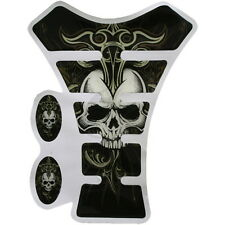 New COOL SKULL Gas Tank Pad Protector Decal for Kawasaki Yamaha Honda Suzuki