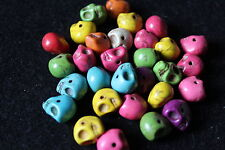 gemstone skull beads - jewellery making - novelty beads