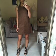 Atmosphere Primark Brown Suede Smock Dress Small 10