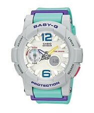 Casio Baby-G * BGA180-3B Anadigi GLide Purple & Mint Green Women COD PayPal