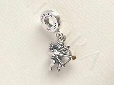 Authentic Pandora Silver and 14ct Gold Cupid Dropper Charm 791251