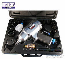 "FIT 1/2"" Heavy Duty Air / Pneumatic Impact Wrench Kit 8 Selection 780ft 1055Nm"