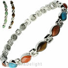 MAGNETIC BRACELET LADIES MAGNETIC THERAPY STONES ARTHRITIS BANGLE PAIN RELIEF