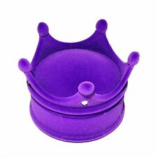 Purple Luxury High Quality Velvet Crown Design Ring Neckalce Box