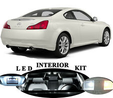 LED Package - Interior + License + Vanity + Reverse for Infiniti G35 G37 Q40
