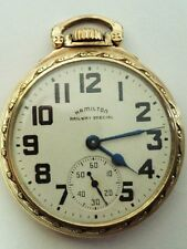 1948 HAMILTON 992B RAILWAY SPECIAL RR GRADE POCKET WATCH 21 JEWEL 16s MODEL 5