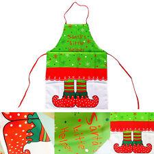 Mode Damen Küchenschürze Weihnachten Latzschürze Kochen Schürze Küchenschürze