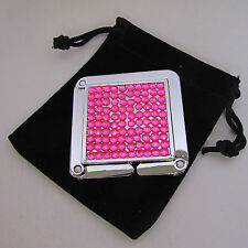 Pink Rhinestone Square Purse / Handbag / Bag Hanger / Hook / Caddy (Mr. Sales)